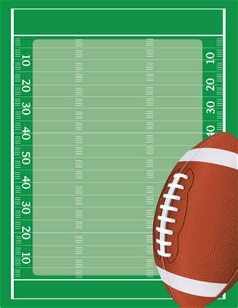 printable paper football field stationery notecards letterhead stationery papers
