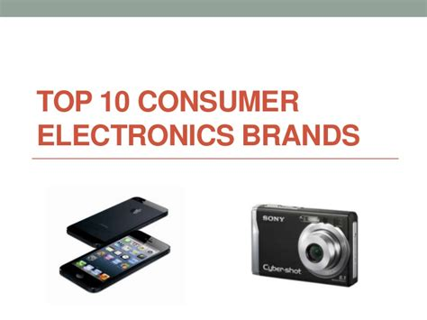 best home electronics top 10 consumer electronics brands