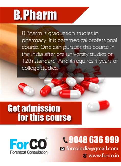 B Pharm Mba Scope by Forco Best College In Bangalore Best College In Karnataka