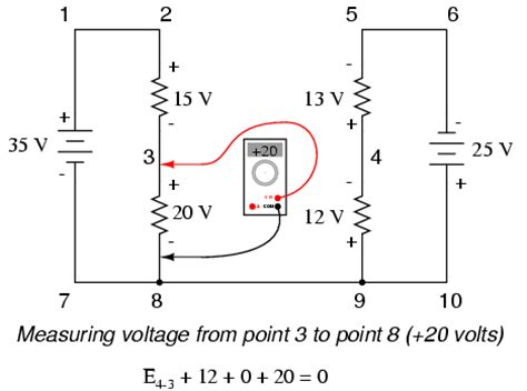 high voltage side circuit test kirchhoff s voltage kvl divider circuits and