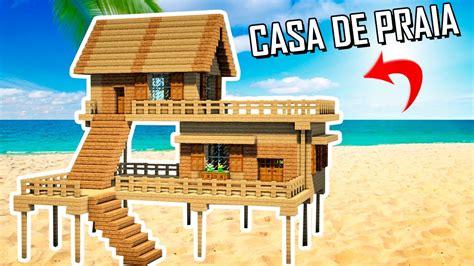 easy casa minecraft tutorial como fazer uma casa de praia