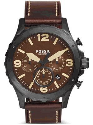 Fossil Jr 1502 Nate s fossil nate brown chronograph jr1502