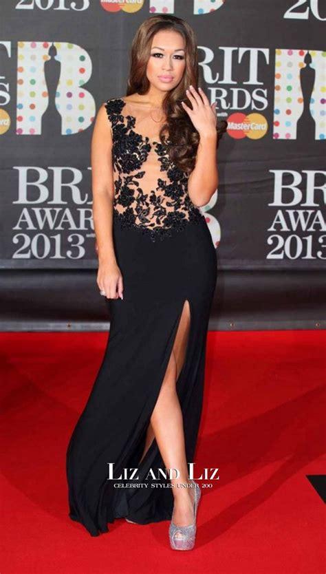 rebecca ferguson awards rebecca ferguson black lace celebrity dress brit awards