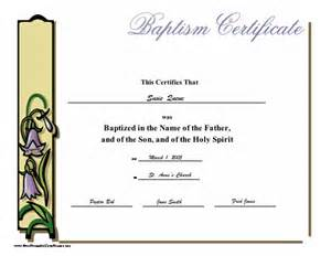 free printable baptism certificates templates baptismal template free invitations ideas