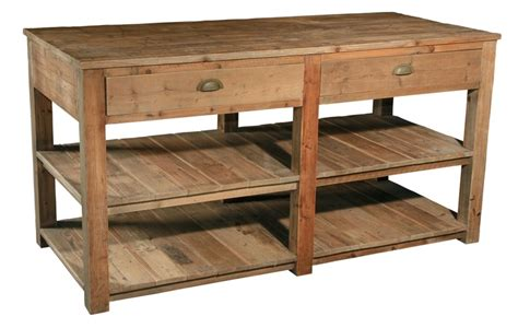 classic reclaimed wood kitchen island hunting cabin