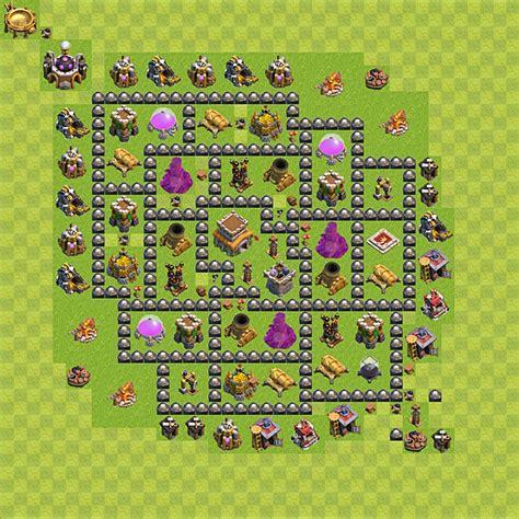 layout design cv8 dise 241 o de aldea base para defensa trofeos copas
