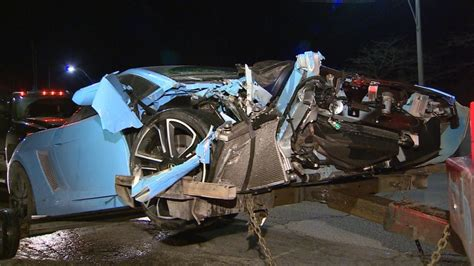 lamborghini sudbury lamborghini driver flees in bmw after overnight crash
