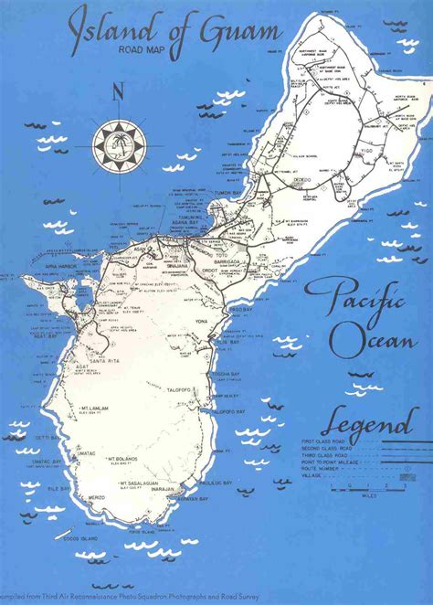 printable road map of guam detailed old road map of guam 1950 guam detailed old road