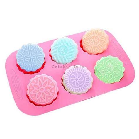 Cetakan Silicone Moon Cake Square cetakan silikon sabun moon cake ii 6 cav bulat cetakan