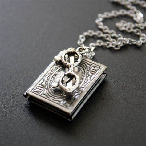 jewelry books book locket necklace antique silver book worm pendant necklace
