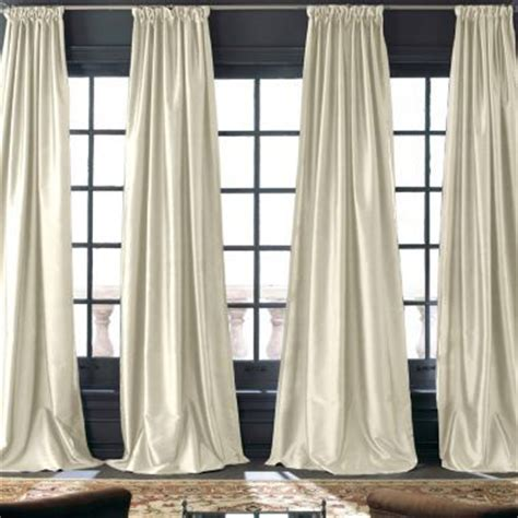 jcpenney silk drapes royal velvet 174 grandeur silk rod pocket back tab curtain