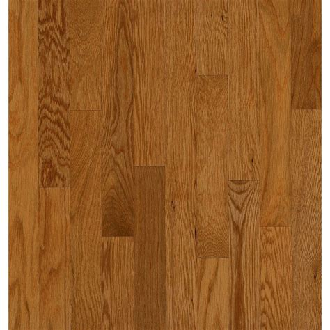 shop bruce manchester strip 2 25 in w prefinished oak hardwood flooring gunstock at lowes com