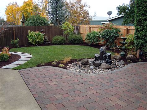 images of backyard landscaping tree shrubs and lawn installation