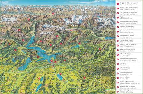 hiking maps lucerne hiking tips map