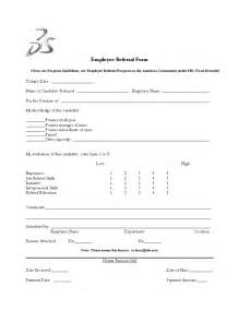 blank employee referral form free download