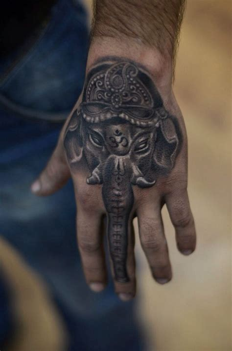 ganesh tattoo in hand ganesha by oleg kolomiets at kolomiets tattoo in