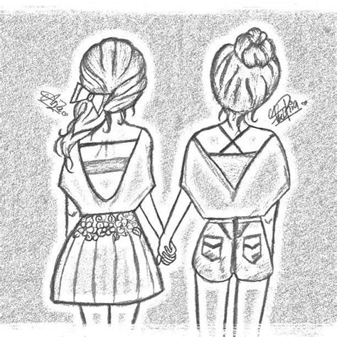 best friends drawing   Google Search   Drawings   Pinterest   Cute easy drawings, Bff and Best