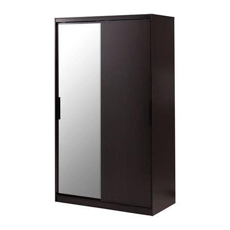morvik armoire penderie brun noir miroir ikea