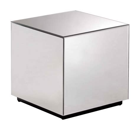 cubo table cubo mirror side table by zuo modern