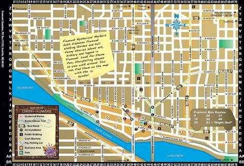 seattle map fremont fremont walking tour map fremont washington mappery