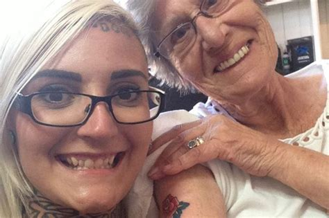 grandma and granddaughter tattoos shows at age 86 mirror