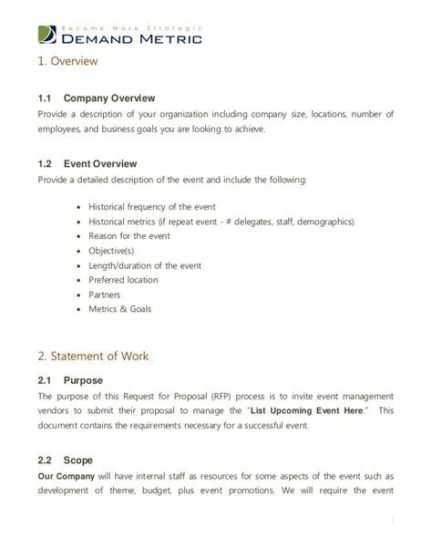 event management rfp template