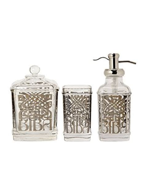 biba glass bath accessories house of fraser