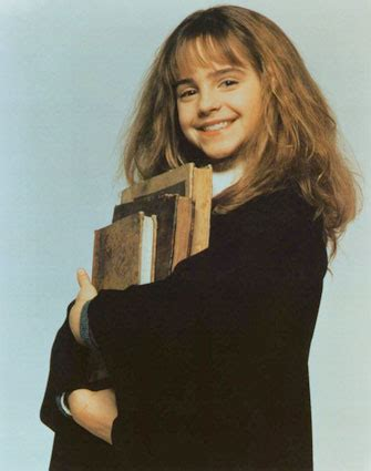 hermione granger in the 1st movoe the characters