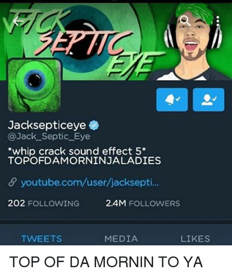 Meme Sound Effects - jacksepticeye septic eye whip crack sound effect 5