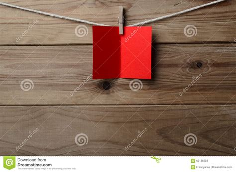 String On Wood - greetings card pegged to string on wood plank