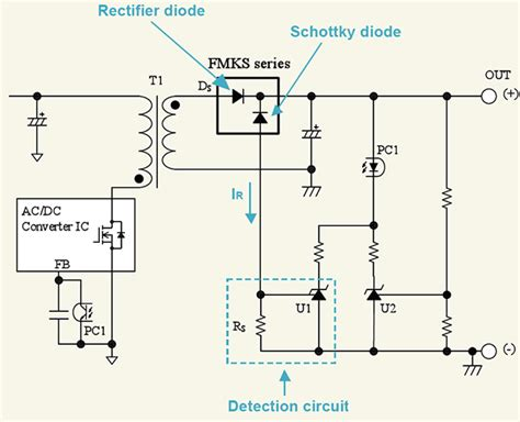 schottky diode hydrogen sensor compensating for temperature in high frequency rectifier diodes power electronic tips
