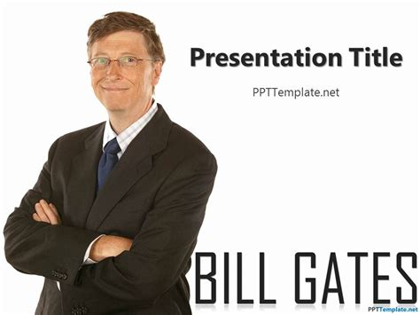 Ppt On Biography Of Bill Gates | free bill gates ppt template