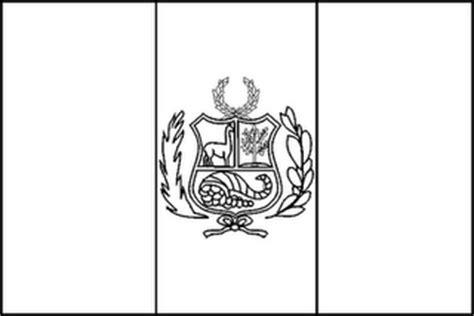 la bandera de peru para colorear breve historia universal dibujo de la bandera del peru