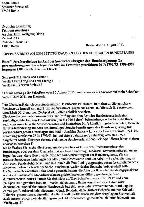 Vorlage Word Referat Offener Brief An Den Bundestagspr 196 Sidenten Prof Dr Norbert Lammert Vom 7 Februar 2013 Und