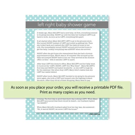 Left Right Baby Shower Printable by 112 Best Images About Baby Shower On