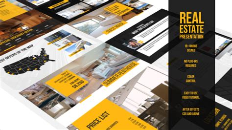 Real Estate Presentation Commercials Envato Videohive After Effects Templates Real Estate After Effects Template
