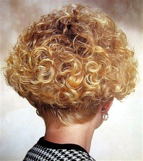 stacked permed hairstyle big perm short stacked bob perm style bob perm short