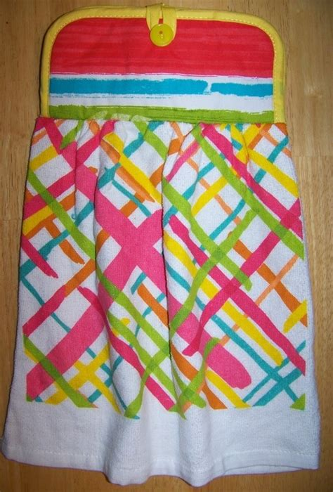 Handmade Kitchen Towels - handmade hanging kitchen dish towel kitchen towels