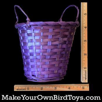 colored baskets makeyourownbirdtoys colored basket