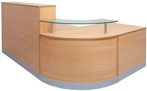 White Corner Bench Mw Reception Counter In Beech A1 Office Furniture