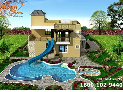 bungalow house design  swimming pool apnaghar house