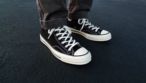 Ct 70s Polka Black Hi converse string standards 1970s chuck all
