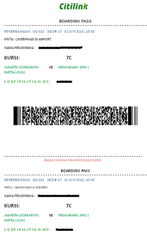 citilink boarding pass cara web check in citilink traveling tips