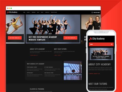 Best Bootstrap Responsive Web Design Templates 40 Ease Template Free Website Templates For Academy