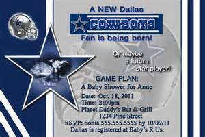 dallas cowboys baby shower invitation