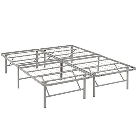 Low Metal Bed Frame Modway Horizon Bed Frame In Gray Low Profile Folding Portable Metal Mattress Bed Frame