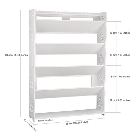 shoe storage dimensions 5 tier modular wood shoe book magazine storage display