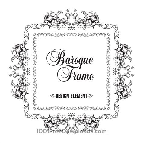 baroque pattern frame free vectors vector ornamental frame baroque pattern
