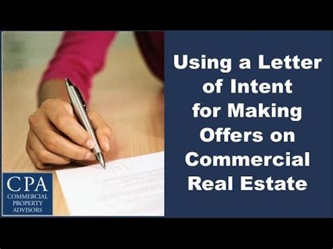 Letter Of Intent To Lease A Parking Space letter of intent for commercial property using a letter