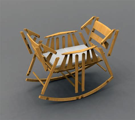 Rocking Chair With Cradle by Rocking Cradle